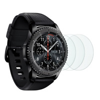 Samsung Gear S3 Screen Protector [3 Pack], OMOTON Full-Coverage Tempered Glass