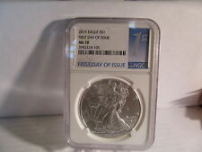 2015 silver eagle, FIRST DAY OF ISSUE, FIRST TIME LABEL NGC MS70