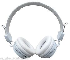 White Wireless 3.5mm Bluetooth Stereo Headphones Iphone 5 6 Samsung Galaxy NEW