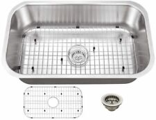 Stainless Steel Kitchen Sink All-in-One Single Bowl 0-Hole Undermount 30 in. New