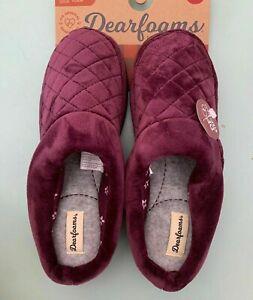 Dearfoams Women's slippers Clog/Mules - Aubergine Purple - Free Shipping!