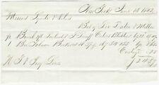 1842 Handwritten Invoice : Lorillard's Snuff & Tobacco