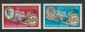 Trinidad & Tobago 1969 Labour Organisation set SG 355-356 Mnh.