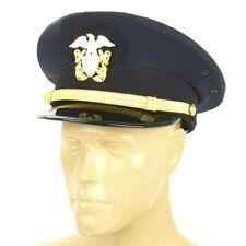 U.S. WWII Naval Officer Blue Peaked Visor Cap- Size US 7.5 (60cm)