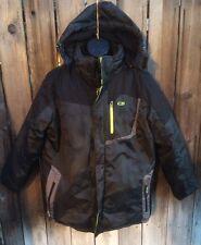CB Sports Men's Black/Lime Ski Snowboard Jacket Coat Zip Out Fleece Liner Large