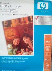 HP Premium Photo Paper - Inkjet Glossy 50 sheets - A4. 240 g/m