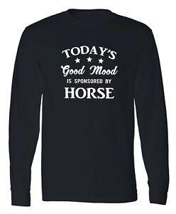Horse Riding Long Sleeve T-Shirt Animal Horses Lover Racing Cowboy Funny Gift
