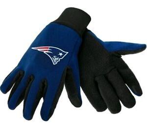 New England Patriots NFL Men's Navy Lightweight Fleece Texting Tip Gloves
