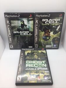 Tom Clancy's Ghost Recon and Splinter Cell lot PlayStation 2 PS2 Three Games