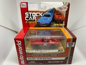 Auto World - Buddy Baker #11 1972 Dodge Charger - HO Slot Car