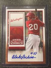2015 Panini Contenders Draft Ticket Red Foil Autograph Blake Perkins