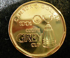 2012 CANADA $1 **100th GREY CUP COIN**LOONIE **DIRECT FROM RCMINT ROLL** !