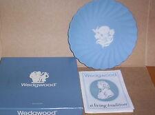 New Wedgwood Assorted Flowers Blue Fluted Jasper Candy Tray J1012 4018 Nib