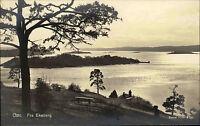 Oslo Norwegen Norge AK ~1920/30 Ekeberg Panorama Landschaft Landskap ungelaufen
