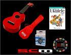 UKE PACK U30R RED SOPRANO UKULELE + GIG BAG + PLAY UKULELE TODAY DVD + TUNER