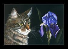 Botanical Cat Maine Coon Print by I Garmashova