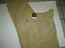"NEW MENS NAUTICA TAN ""RIGGER"" SILK DRESS PANTS SIZE 34 X 30  $98"