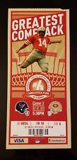 San Francisco 49ers Houston Texans Football Ticket 10/6 2013 Ray Wersching Stub