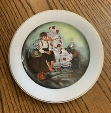 Norman Rockwell Runaway Circus Clown Helping Boy Collector Plate 8 1/2""