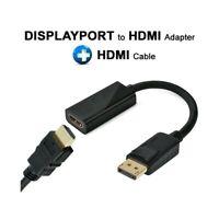 CAVO ADATTATORE DISPLAY PORT MASCHIO TO HDMI FEMMINA + CAVO HDMI MASCHIO-
