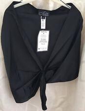 Alex Evenings Shawl/Jacket Black Satin One Size