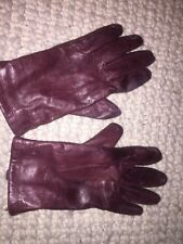 John Lewis Lined Leather Gloves, Brown S/ M Used