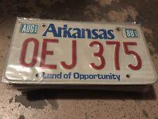 1988 Arkansas License Plate OEJ 375