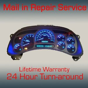 03-07 GM Chevrolet Sierra Silverado Instrument Gauge Cluster FULL REPAIR SERVICE