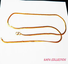 Gold Chain Men Women 26 in 18ct Gold Plated Necklace 2mm thick Curb Chain A11