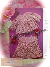 Vintage Crochet Pattern Baby's Special Coat & Dress Set. So Sweet! FREE P&P!!!