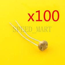 100 pcs Photoresistor LDR CDS 5mm Light-Dependent Resistor Sensor GL5528 Arduino