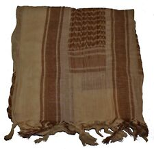Cotton Military Shemagh Scarf Army Tactical Keffiyeh Desert Head Wrap Tan Brown