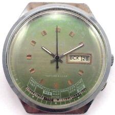 Rare Soviet RAKETA watch Big Chromed case, Perpetual Calendar, *US SELLER* #968