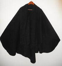 CCAHUANTICO Artesian ALPACA Wool CAPE Poncho BLACK Wrap Shawl Cloak w Scarf NEW