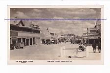 SWAN HILL VIC Campbell Street ROSE RPPC c.1940s Cars Buildings Signs  AUSTRALIA