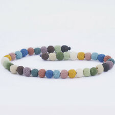 Natural Rondelle Lava Rock Stone For Jewelry Making Loose Spacer Beads Strand