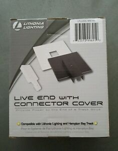 Lithonia Lighting Live End White Connector Track Lighting Kit with Black Cover
