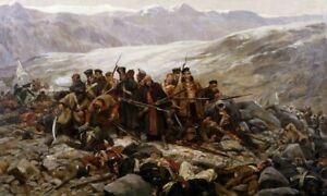 Last Stand Of The 44th Regiment At Gandamek High Quality Digital Print A3