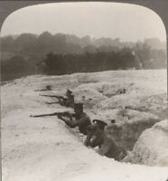 WW1 France. A Quiet Day in British Second Line Reserve Trenches. Stereoview