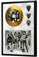 Kiss Gold Look CD, Autograph & Plectrum Display - Best Price on eBay