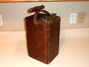 Antique  Dupont # 50 Blasting Machine - Wooden Case w/ Plunger -works nice !