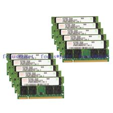 Hynix 10X1GB PC2700 DDR1 DDR333 333MHZ 200pin Sodimm Laptop Memory Ram
