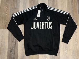 Adidas Juventus Icons Track Top Sweatshirt Men's Size Large Black/White FR4215