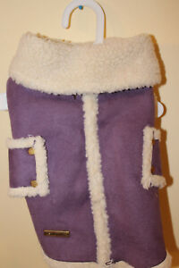 Fashion Pet Shearling Coat with Fleece Lining Small Lavender new