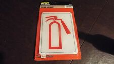 "Fire Extinguisher Sign 5"" x 7"" Self Stick Hillman Visual Impact"