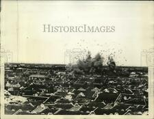 1937 Press Photo China Explosion from Japanese bomb in International Settlement