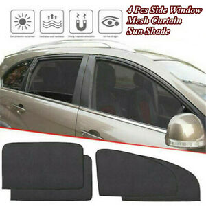 4 Pcs Magnetic Car Side Window Sun Shade Cover Mesh Curtain Shield UV Protection