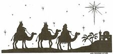 CHRISTMAS WE THREE KINGS & STAR Wood Mounted Rubber Stamp NORTHWOODS O10122 New