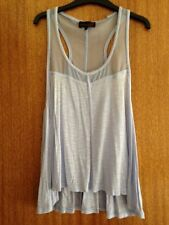 NWT MATERIAL WORLD by MADONNA - Racer Back, Flared Top, Pale Blue - Size 12
