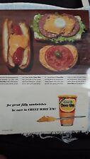 Vintage 1964 Magazine Advertisement for Kraft Cheez Whiz - Great Pics! (817)